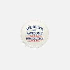 World's Most Awesome Surgical Tech Mini Button (10