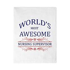 World's Most Awesome Nursing Supervisor Twin Duvet
