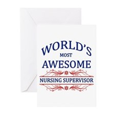 World's Most Awesome Nursing Supervisor Greeting C