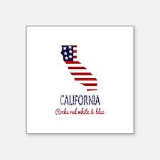 California Rocks Red White & Blue Sticker