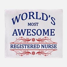 World's Most Awesome Registered Nurse Throw Blanke