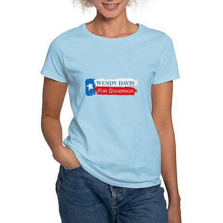 Wendy Davis Governor Flag Texas Women's Light T-Sh