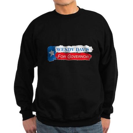 Wendy Davis Governor Flag Texas Sweatshirt (dark)