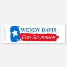 Wendy Davis Governor Flag Texas Bumper Bumper Sticker
