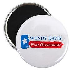 """Wendy Davis Governor Flag Texas 2.25"""" Magnet (10 p"""
