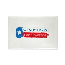 Wendy Davis Governor Flag Texas Rectangle Magnet