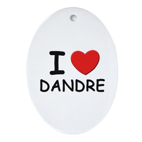 I love Dandre Oval Ornament