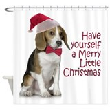 Beagle christmas Shower Curtains