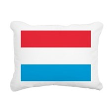 Flag of Luxembourg Rectangular Canvas Pillow