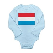 Flag of Luxembourg Long Sleeve Infant Bodysuit