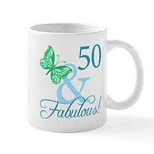 Fabulous 50th Birthday Small Mugs