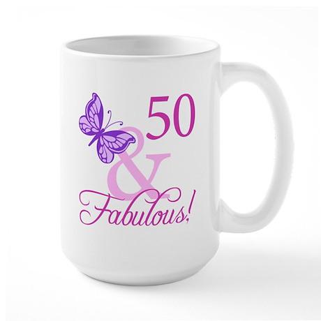 Fabulous 50th Birthday Large Mug