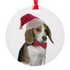 Beagle Santa Ornament
