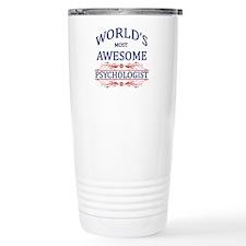 World's Most Awesome Psychologist Travel Mug