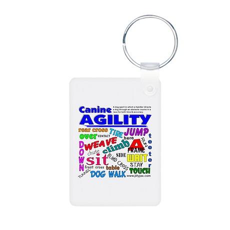 Canine Agility Aluminum Photo Keychain