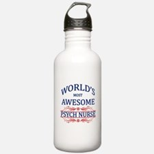 World's Most Awesome Psych Nurse Water Bottle