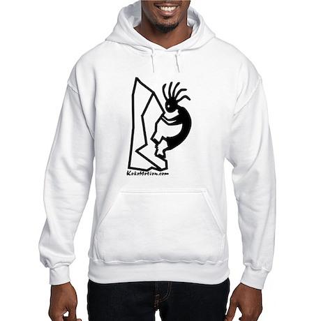 Kokopelli Rock Climber Hooded Sweatshirt