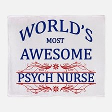 World's Most Awesome Psych Nurse Throw Blanket