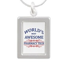 World's Most Awesome Pharmacy Tech Silver Portrait