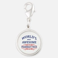 World's Most Awesome Pharmacy Tech Silver Round Ch