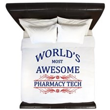 World's Most Awesome Pharmacy Tech King Duvet