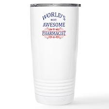World's Most Awesome Pharmacist Travel Mug