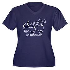 got dachshunds? Women's Plus Size V-Neck T-Shirt
