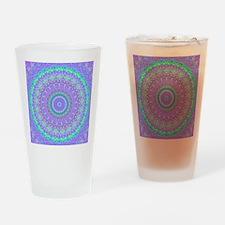 Funky Fresh Purple Mandala Drinking Glass