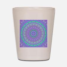 Funky Fresh Purple Mandala Shot Glass