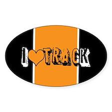 I heart (love) track Decal