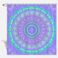 Funky Fresh Purple Mandala Shower Curtain