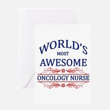 World's Most Awesome Oncology Nurse Greeting Card