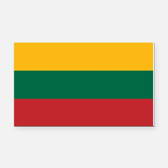 Flag of Lithuania Rectangle Car Magnet