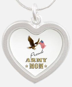 Proud Army Mom - Eagle Flag Necklaces