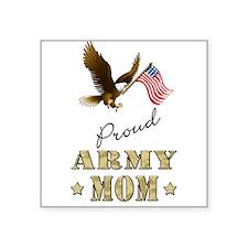 Proud Army Mom - Eagle Flag Sticker