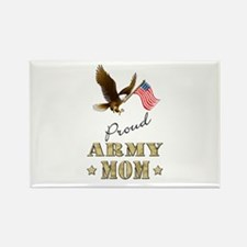 Proud Army Mom - Eagle Flag Rectangle Magnet