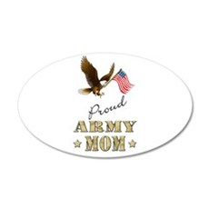Proud Army Mom - Eagle Flag Wall Decal