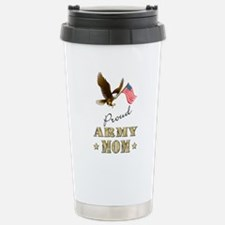 Proud Army Mom - Eagle Flag Travel Mug