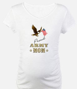 Proud Army Mom - Eagle Flag Shirt