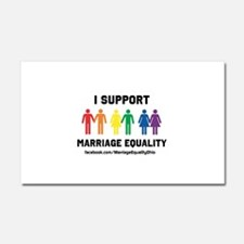 I Support Marriage Equality Car Magnet 20 x 12