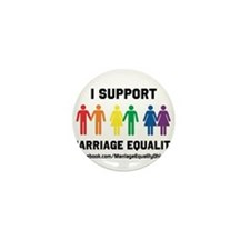 I Support Marriage Equality Mini Button (10 pack)