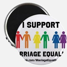"""I Support Marriage Equality 2.25"""" Magnet (10 pack)"""
