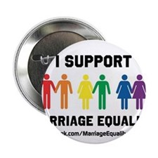 """I Support Marriage Equality 2.25"""" Button (10 pack)"""