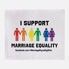 I Support Marriage Equality Throw Blanket