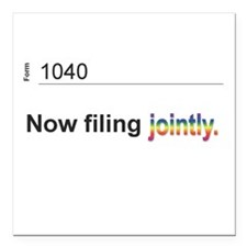 Married, Filing Jointly--Pride 2013 T-shirt Square