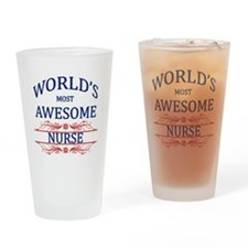 World's Most Awesome Nurse Drinking Glass