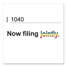 """Married, Filing Jointly--Mug Square Car Magnet 3"""""""