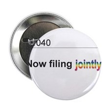 "Married, Filing Jointly--Mug 2.25"" Button"