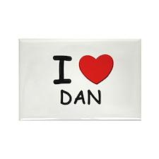 I love Dan Rectangle Magnet