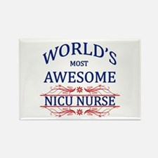 World's Most Awesome NICU Nurse Rectangle Magnet